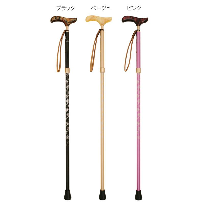 sinano stick [ YUMI KATSURA KYステッキ伸縮ローズB @14040] シナノ 歩行杖・ステッキ KAINOS 【 ウォーキング 用】【正規代理店商品】