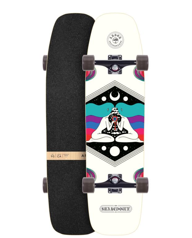 ARBOR SKATEBOARDS [ CROSSCUT @31320] アーバー ロング スケート ボード コンプリート【正規代理店商品】