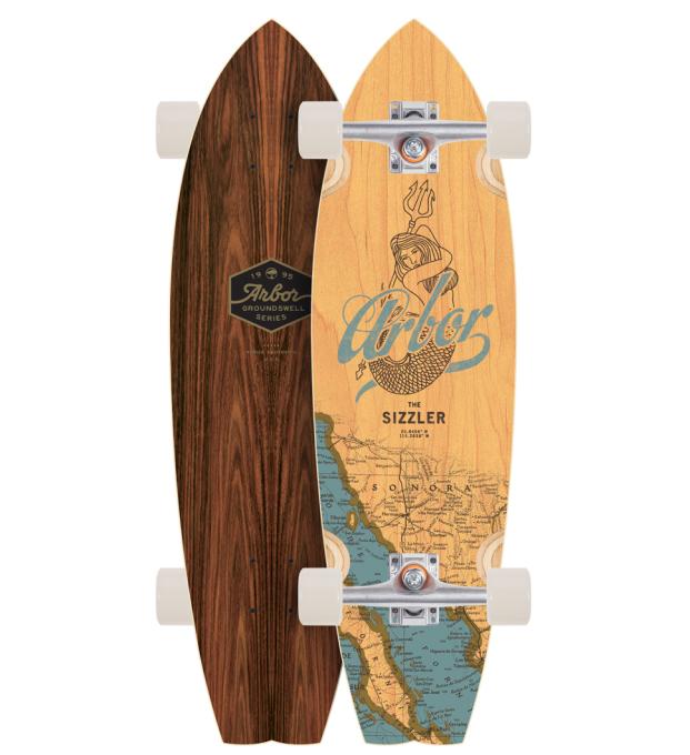 ARBOR SKATEBOARDS [ GROUNDSWELL @34560] アーバー ロング スケート ボード コンプリート【正規代理店商品】