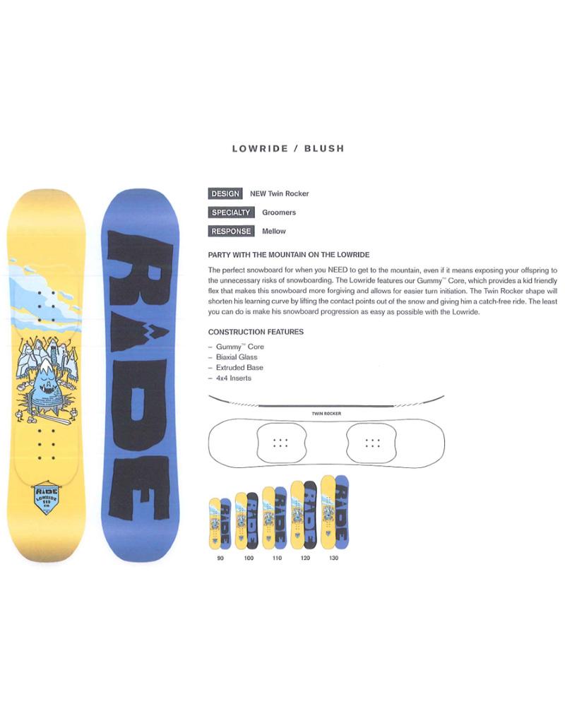 【在庫限最終特価】 RIDE SNOWBOARS [ LOWRIDE @34560] ライド スノーボード 正規輸入品