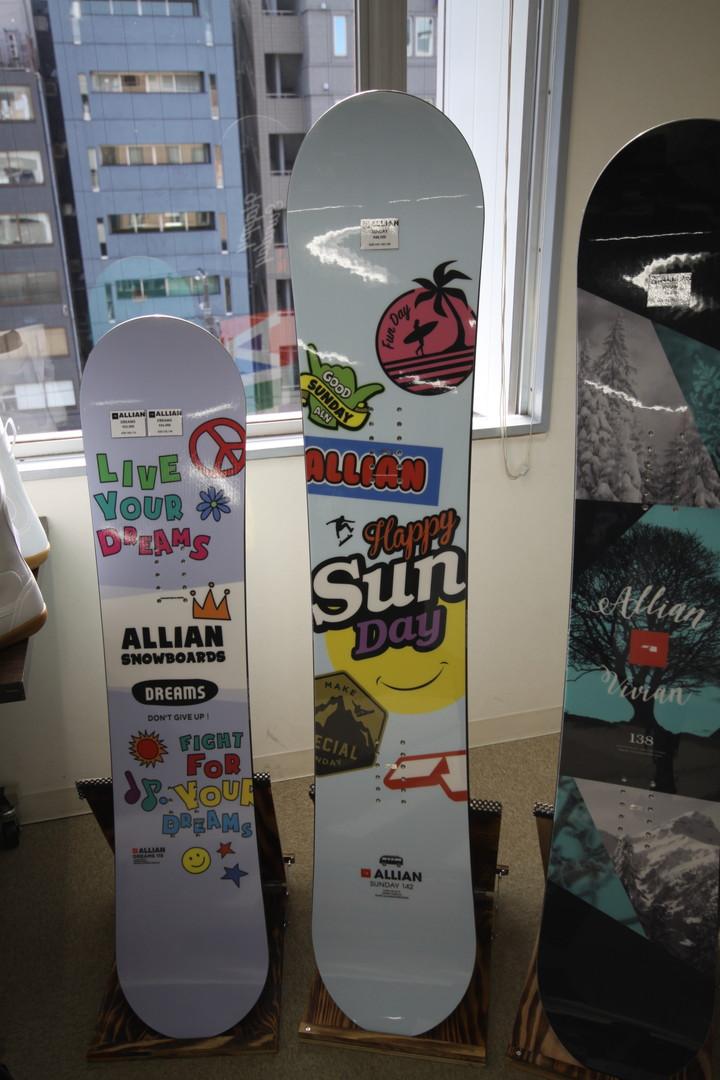 ALLIAN SNOWBOARD 【 SUNDAY @51840】 アライアン キッズスノーボード 【正規代理店商品】【送料無料】