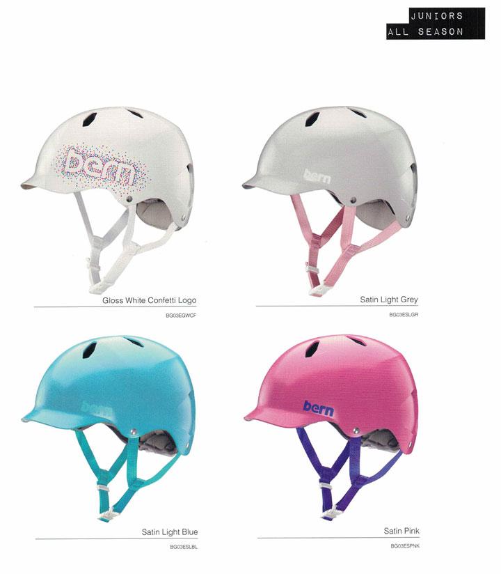 【ジュニア用】 bern (バーン)ヘルメット [ BANDITA HELMET @10260] オールシーズンタイプ GIRL用 2017/18モデル