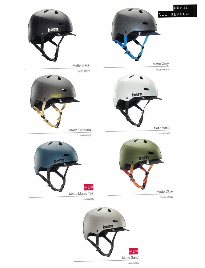 【ジャパンフィット】 bern (バーン)ヘルメット [ MACON VISOR HELMET JAPAN FIT @12420] オールシーズンタイプ 2017/18モデル