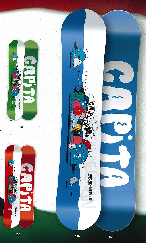 CAPITA SNOWBOARDS [ MICRO MINI @32400 ] キャピタ キッズ スノーボード 【正規代理店商品】【送料無料】