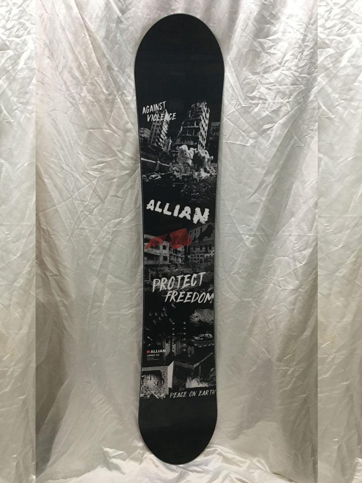 数量限定スタッフ試乗ボード ALLIAN SNOWBOARD 【 GRIND @62640】 アライアン スノーボード 【チューンナップ・バッグ付】
