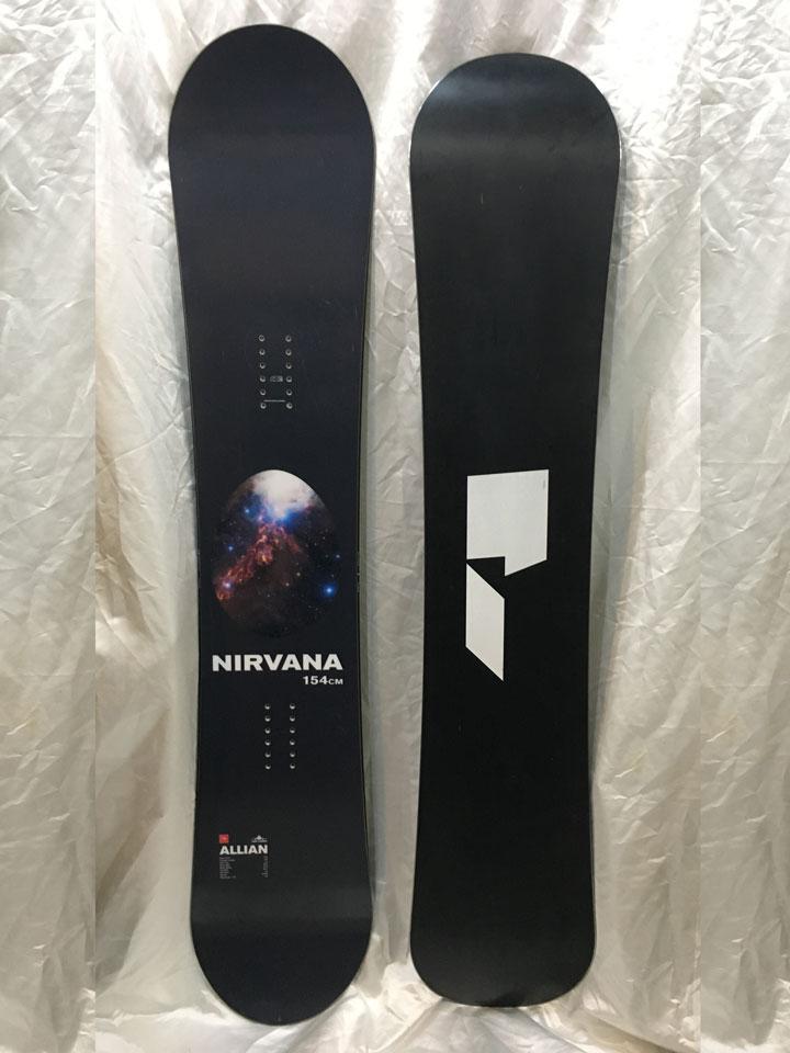 数量限定スタッフ試乗ボード ALLIAN SNOWBOARD 【 NIRVANA @78840】 アライアン スノーボード 【チューンナップ・バッグ付】