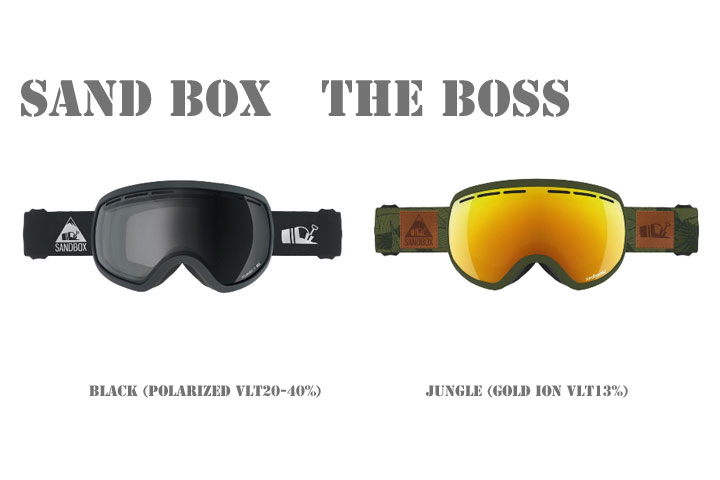 sand box SNOW GOGGLE [ THE BOSS Polarized 調光レンズモデル @27000] サンドボックス ゴールる