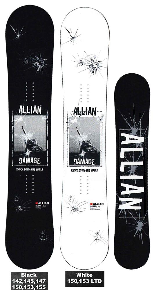 ALLIAN SNOWBOARD 【 DAMAGE @67000】 アライアン スノーボード 【正規代理店商品】【送料無料】