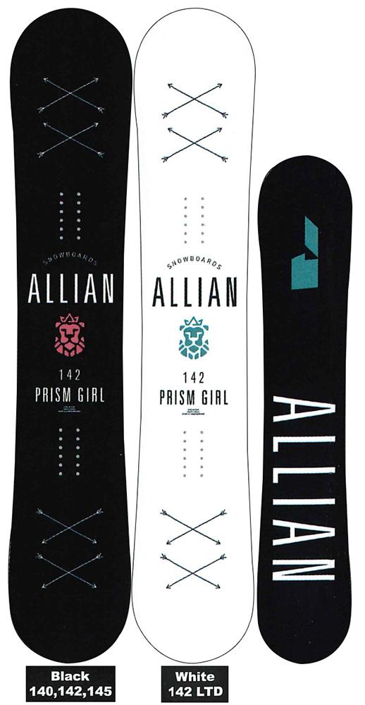 ALLIAN SNOWBOARD 【 PRISM GIRL @68000】 アライアン スノーボード 【正規代理店商品】【送料無料】