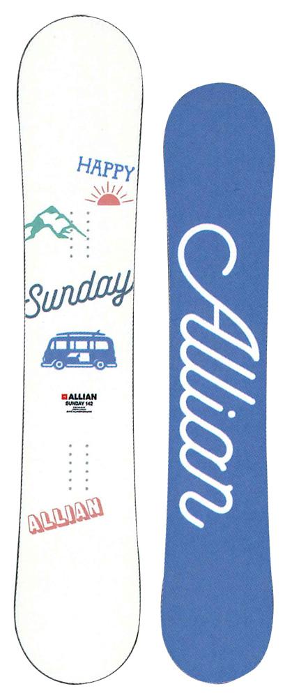 ALLIAN SNOWBOARD 【 SUNDAY @52000】 アライアン キッズスノーボード 【正規代理店商品】【送料無料】