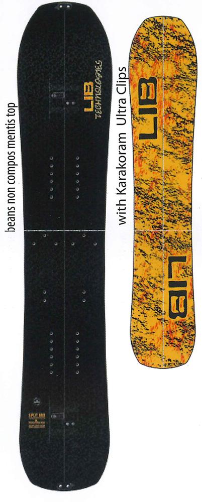 LIBTECH SNOWBOARDS [ SPLIT BRD @13000] リブテック スノーボード 【正規代理店商品】【送料無料】