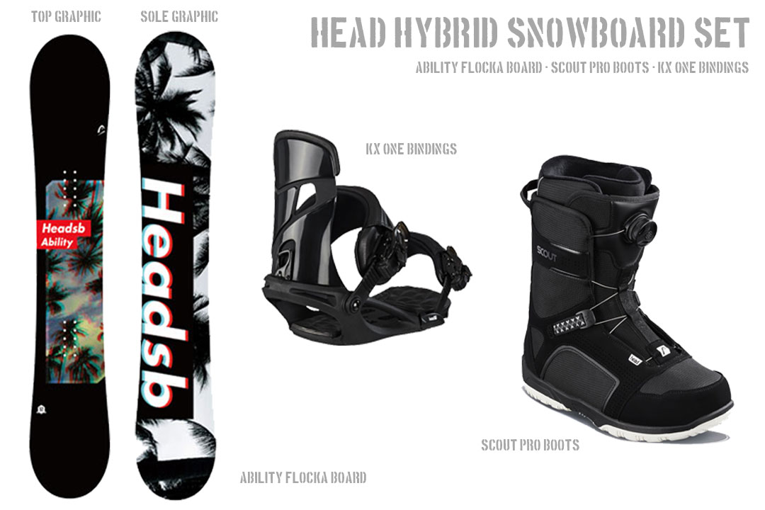 HEAD SNOWBOARDS [ メンズ スノーボード 3点セット ABILITY FLOCKA ]安心の正規輸入品【送料無料】