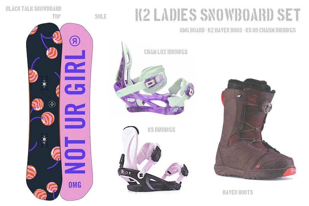 3点セット [ RIDE OMG SNOWBOARDS SET ] レディース スノーボード セット ボードケース付き @133000]【正規代理店商品】【送料無料】