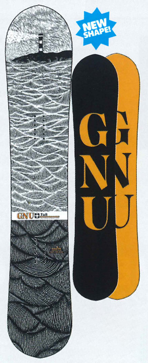 GNU [ T2B @74000] グヌー スノーボード 【正規代理店商品】 【送料無料】