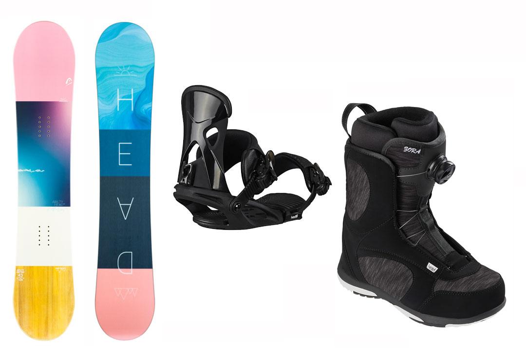 オリジナルボードケースプレゼント 60パーオ 送料無料でお届けします HEAD SNOWBOARDS ヘッド レディース 取付無料 3点セット 全国どこでも送料無料 正規代理店商品 スノーボード ABILITY FLOCKA