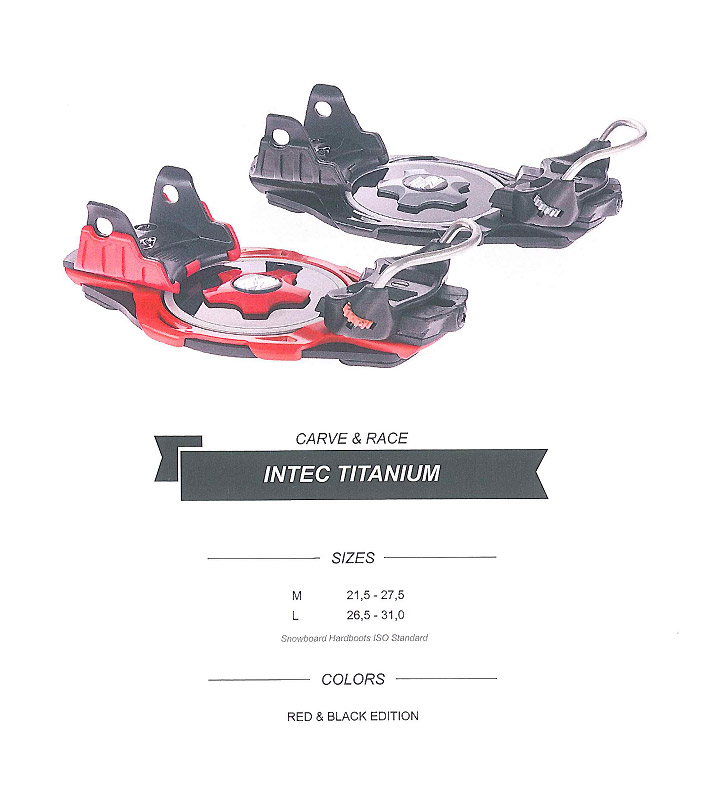 F2 SNOWBOARD BINDINGS [ INTEC TITANIUM ] エフツー スノーボード 】
