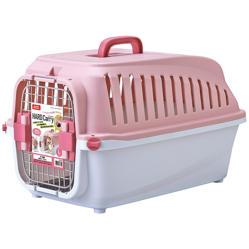 ペット ペットグッズ 気質アップ 犬用品 猫用品 キャリーバッグ コンテナ マルカン ピンク ハードキャリー 新作アイテム毎日更新 DA-015 L