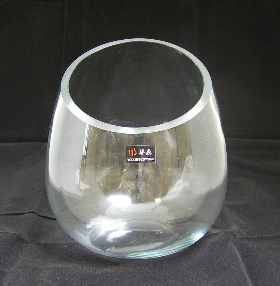 値下げ インテリア用ガラス花瓶です 限定商品 ガラス 期間限定の激安セール 横きり花瓶
