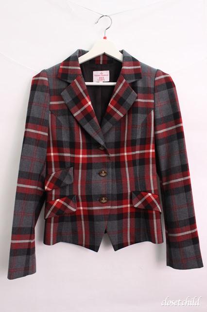 【USED】 タータンチェックジャケット Vivienne WestwoodVivienne Westwoodヴィヴィアンウエストウッド ビビアン 【中古】