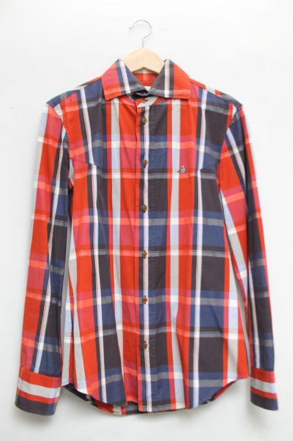 【USED】MAN 高襟タータンチェックシャツVivienne Westwood(ヴィヴィアンウエストウッド・ビビアン)【中古】