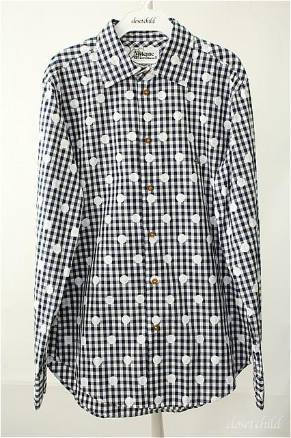 【USED】チェック&ドットシャツ Vivienne Westwood MANVivienne Westwoodヴィヴィアンウエストウッド ビビアン 【中古】