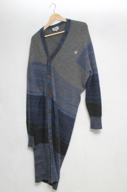 【USED】MAN オーブ刺繍ロングカーディガン Vivienne Westwood MANVivienne Westwoodヴィヴィアンウエストウッド ビビアン 【中古】