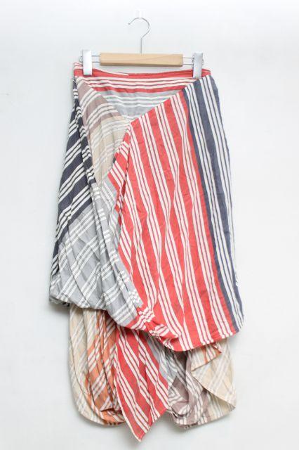 【USED】ランダムストライプエイトスカート ANGLOMANIAVivienne Westwoodヴィヴィアンウエストウッド ビビアン 【中古】