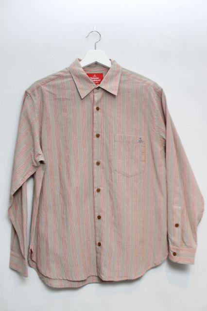 【USED】【未使用品】オーブ刺繍ストライプシャツ Vivienne WestwoodVivienne Westwoodヴィヴィアンウエストウッド ビビアン 【中古】