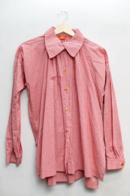 USED Vintage ギンガムチェックスモッグシャツ Vivienne WestwoodVivienne Westwoodヴィヴィアンウエストウッド ビビアン8nPX0kwO