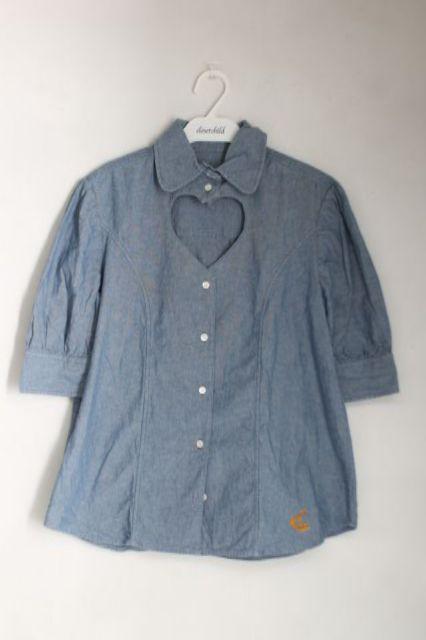 【USED】デニムラブシャツ ANGLOMANIAVivienne Westwoodヴィヴィアンウエストウッド ビビアン 【中古】