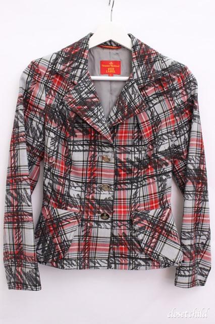 【USED】クレヨンチェックジャケット Vivienne WestwoodVivienne Westwoodヴィヴィアンウエストウッド ビビアン 【中古】