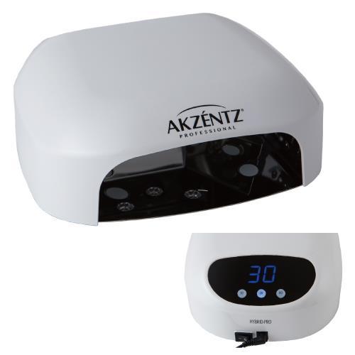 アクセンツ ハイブリッドプロLEDランプ(36W)【AKZENTZ】アクセンツのLEDジェルは30秒、UVジェルは1分で硬化(時間短縮)♪