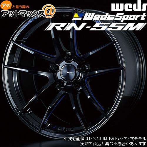 【4本購入で特典付】WEDS ウェッズ ウェッズスポーツ RN-55M 18インチ リム幅10.0J インセット+18 5穴 PCD114.3 BBM アルミホイール1本{0072973[9980]}