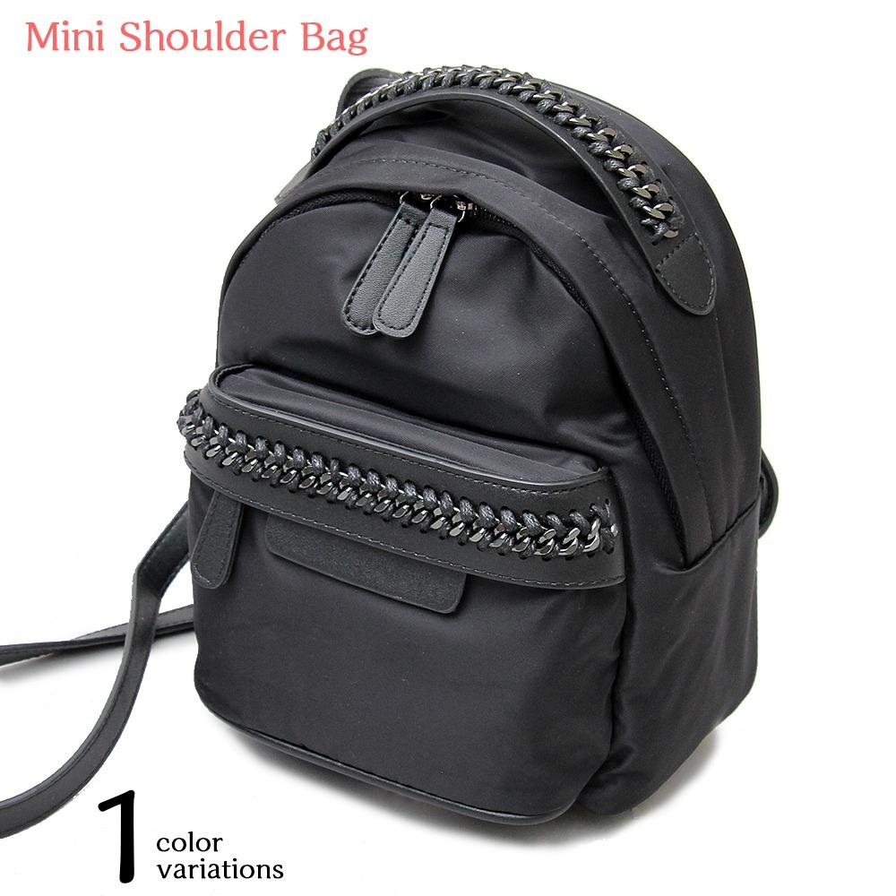 ショルダーバッグ リュック リュックサック 2way レディース コンパクト 黒 ブラック 鞄 かばん カバン{ABG-3036{[9980]}