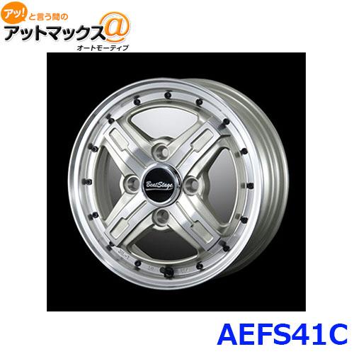 ブレスト アルミホイール AEFS41C14インチ リム幅4.5J 4穴 PCD100 INSET+45 ビートステージ FS-C {AEFS41C[9980]}
