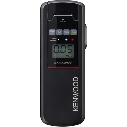 高感度 高精度 高品質な半導体センサーを搭載 ケンウッド CAX-AD100 {CAX-AD100 セール価格 } アルコールチェッカー 感謝価格 ブラック 905