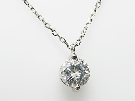 0.689ct G,SI2,GOOD PT製 2点留め ダイヤモンドペンダント