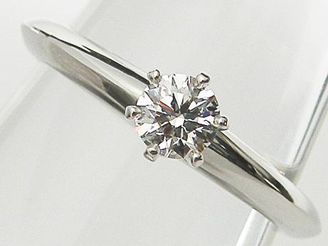 【中古】【TIFFANY&Co.】0.24ct G,VVS2,EXCELLENT PT950製 ティファニー ダイヤモンドリング
