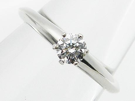 【中古】【TIFFANY&Co.】0.22ct F,VS1,トリプルEXCELLENT PT950製 ティファニー ダイヤモンドリング