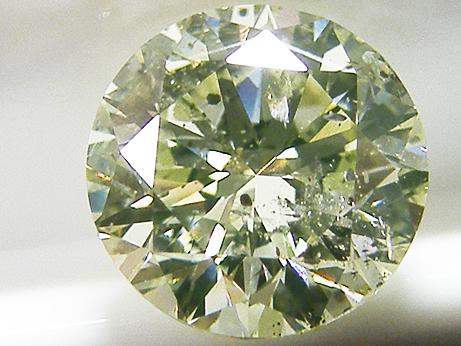1.233ct LIGHT.GREEN.YELLOW,I1,ラウンド グリーンイエローダイヤモンド ルース