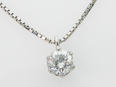 0.337ct F,SI2,GOOD PT製 6本爪 ダイヤモンドペンダント