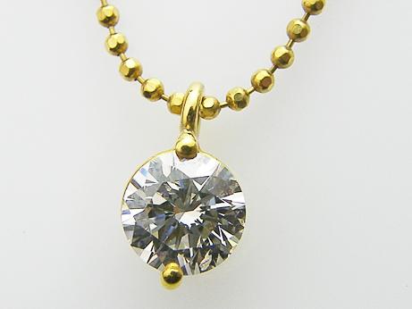 0.503ct K,SI1,GOOD K18製 ダイヤモンドペンダントネックレス 中央宝石研究所鑑定書付き