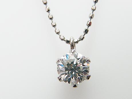 0.506ct G,SI1,GOOD 定番6本爪 PTダイヤモンドペンダント!!