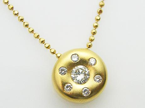 ダイヤモンド Total 0.31ct K18YG製 ダイヤモンドペンダント