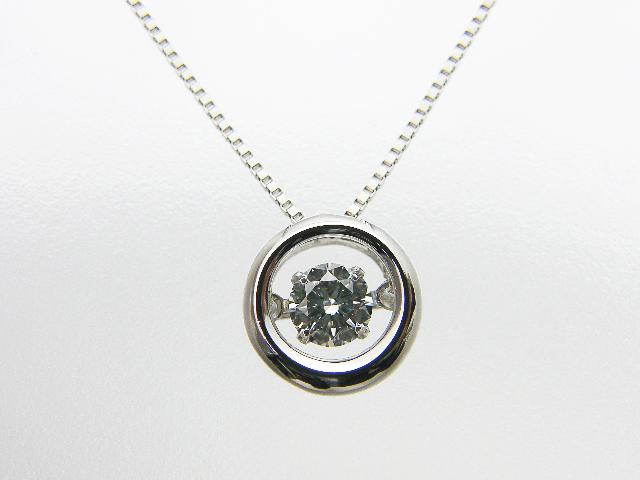0.300ct D,VVS2,GOOD PT製 ダンシングストーン ダイヤモンドペンダント