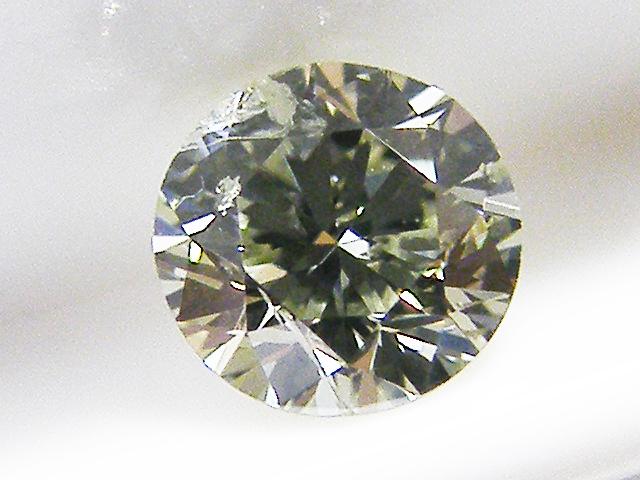 0.198ct LIGHT.GRAYISH.YELLOW.GREEN,I1,ラウンド カメレオンダイヤモンドルース