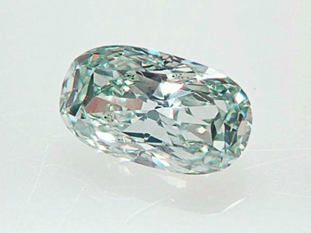 0.20ct FANCY.LIGHT.BLUISH.GREEN,SI2,オーバル,GIA ダイヤモンドルース