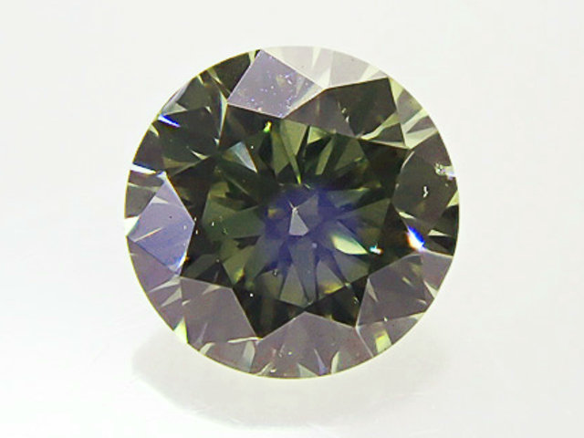 0.235ct FANCY.GRAY.GREEN,SI1,ラウンド カメレオンダイヤモンドルース