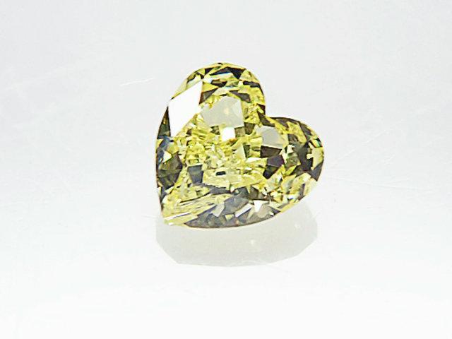 0.155ct FANCY.YELLOW,VS2,ハート イエローダイヤモンドルース