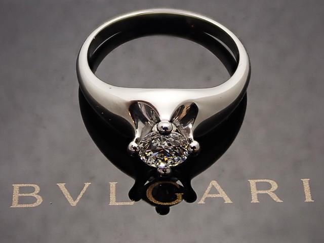 【BVLGARI】0.51ct E,VVS2,VERY GOOD PT950製 コロナ ブルガリ ダイヤモンドリング【中古】